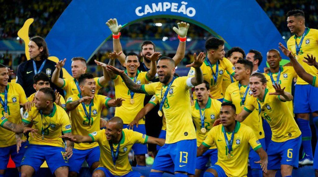 """Kanarkowi"" triumfują w Copa America 2019! (Fot.: Copa America/Twitter)"