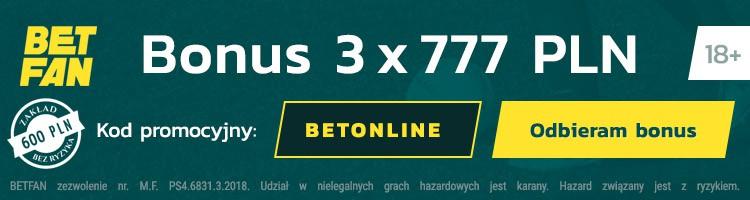 Betfan kod promocyjny 2021