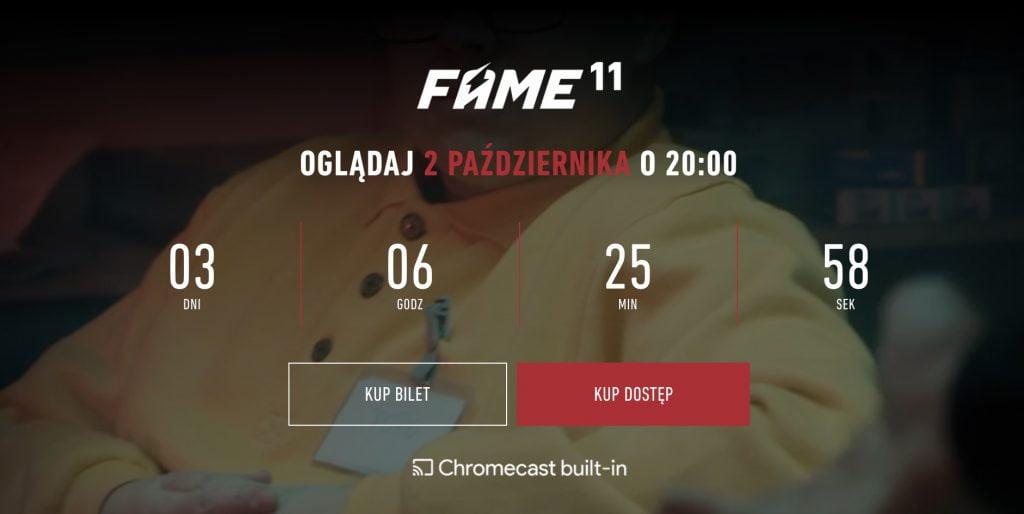 FAME MMA 11 transmisja PPV